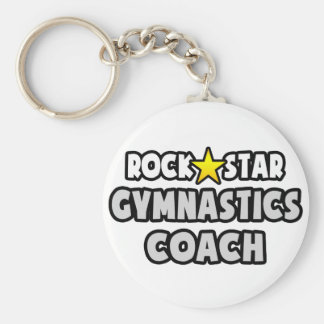 Rock Star Gymnastics Coach Keychain