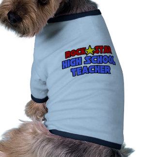 Rock Star High School Teacher Dog Tee