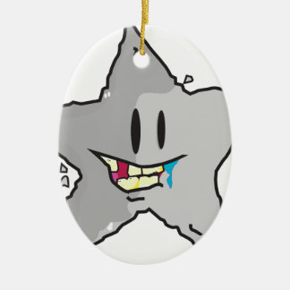 Rock star illustration pun ceramic ornament