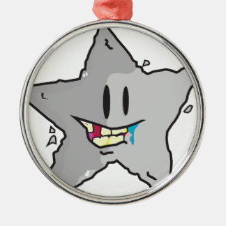 Rock star illustration pun metal ornament