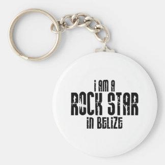Rock Star In Belize Keychain