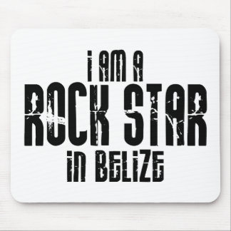 Rock Star In Belize Mouse Pads