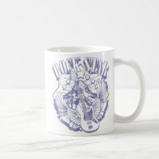 ROCK STAR IN BLUE VINTAGE STYLE COFFEE MUG