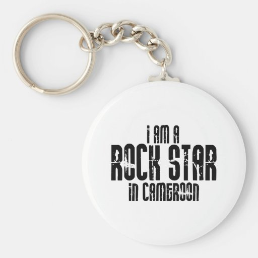 Rock Star In Cameroon Key Chains