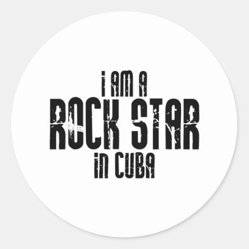 Rock Star In Cuba Classic Round Sticker