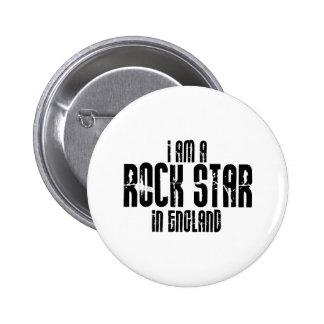 Rock Star In England 2 Inch Round Button
