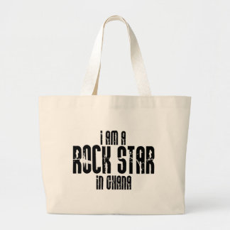 Rock Star In Ghana Large Tote Bag