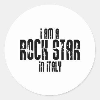 Rock Star In Italy Classic Round Sticker