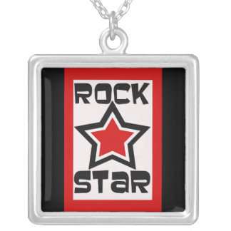 Rock Star in red and black necklace