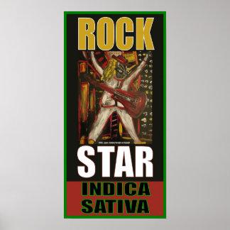 ROCK STAR INDICA SATIVA POSTER