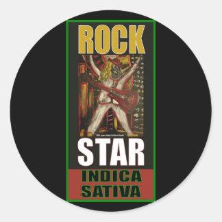 ROCK STAR INDICA SATIVA STICKERS
