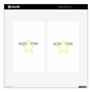 Rock Star Kindle Fire Decal