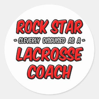 Rock Star Lacrosse Coach Stickers