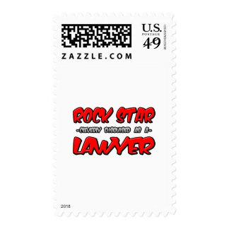 Rock Star...Lawyer Postage Stamp