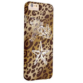 Rock Star Leopard Print iPhone6 Plus Cases