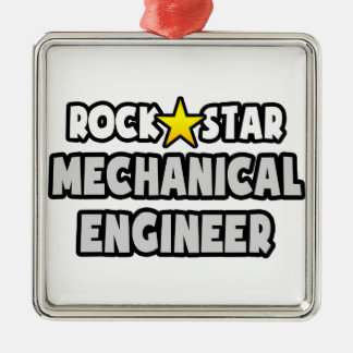 Rock Star Mechanical Engineer Square Metal Christmas Ornament