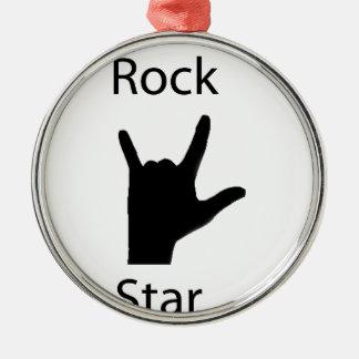 Rock star metal ornament