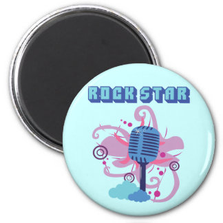 Rock Star Microphone 2 Inch Round Magnet
