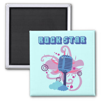 Rock Star Microphone 2 Inch Square Magnet
