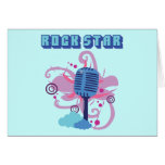 Rock Star Microphone Greeting Cards