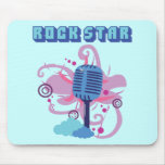 Rock Star Microphone Mouse Pad