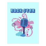 Rock Star Microphone Post Cards
