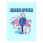 Rock Star Microphone Postcard