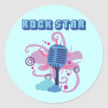 Rock Star Microphone Stickers