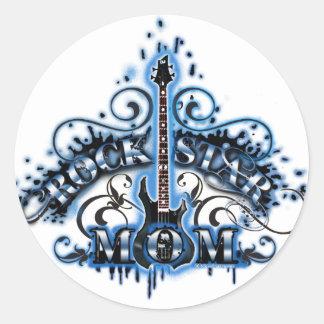Rock Star Mom Classic Round Sticker