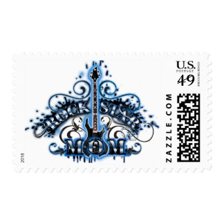 Rock Star Mom Postage Stamps