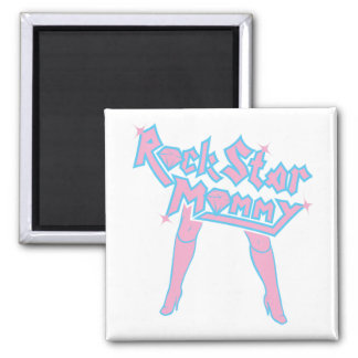 Rock Star Mommy 2 Inch Square Magnet