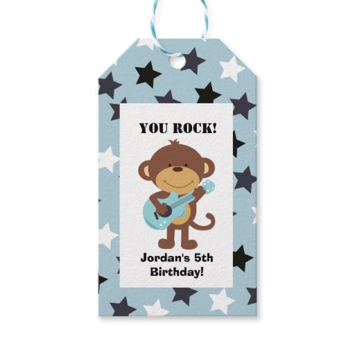 Rock Star Monkey Gift Tag