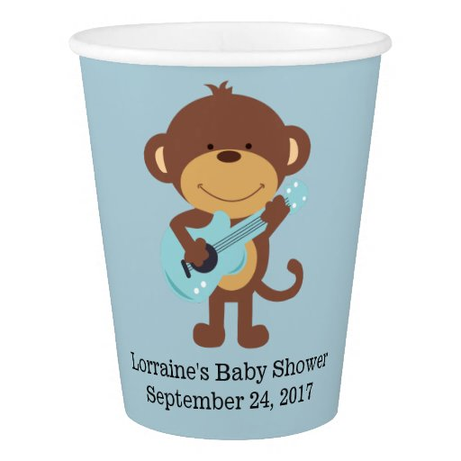 Rock Star Monkey Paper Cups