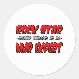 Rock Star...NMR Expert Classic Round Sticker