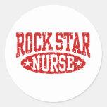 Rock Star Nurse Classic Round Sticker