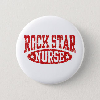 Rock Star Nurse Pinback Button