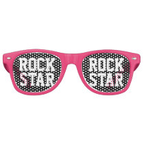 Rock star party shades   Funny pink sunglasses
