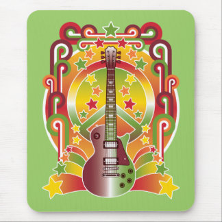 Rock Star Peace Mouse Pad