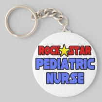 Rock Star Pediatric Nurse Key Chain