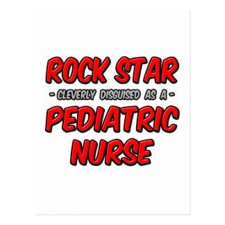 Rock Star...Pediatric Nurse Postcard
