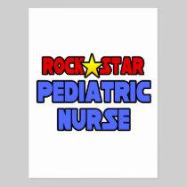 Rock Star Pediatric Nurse Postcard