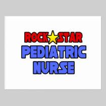 Rock Star Pediatric Nurse Postcards