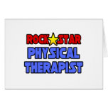 Rock Star Physical Therapist Greeting Card