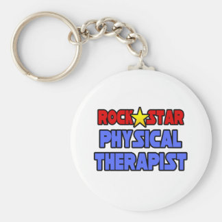 Rock Star Physical Therapist Keychain