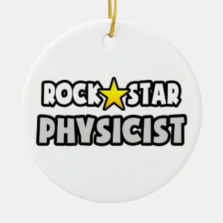 Rock Star Physicist Double-Sided Ceramic Round Christmas Ornament