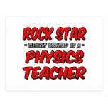 Rock Star...Physics Teacher Postcard
