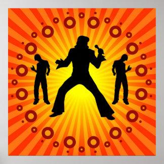 Rock Star - Pop Singer Print