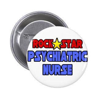 Rock Star Psychiatric Nurse Pinback Button