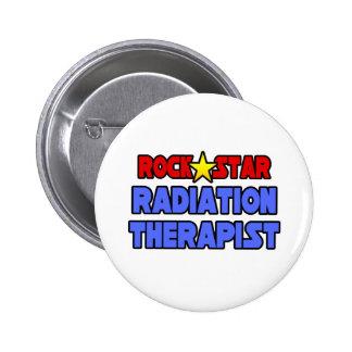 Rock Star Radiation Therapist Pinback Buttons