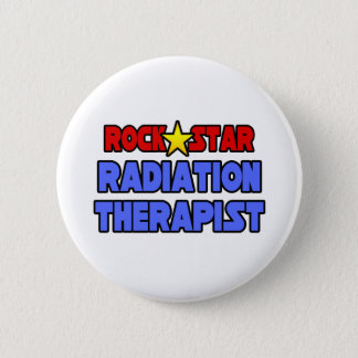 Rock Star Radiation Therapist Pinback Button